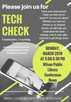 Tech Check March 20 - Wilson Public Library