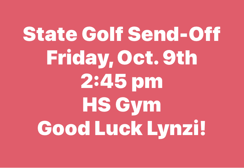 State Golf Send-Off