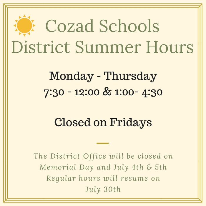 district hours