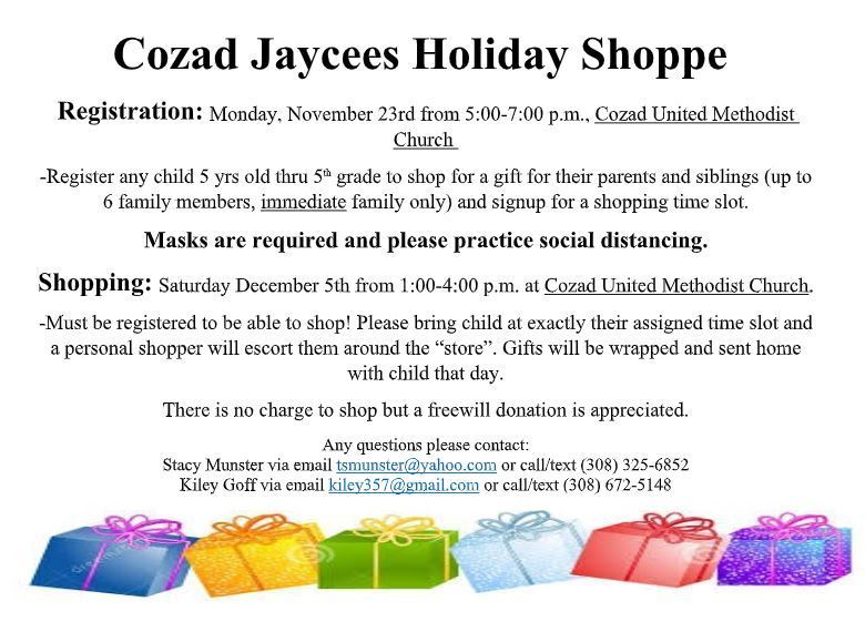 Cozad Jaycees Holiday Shop
