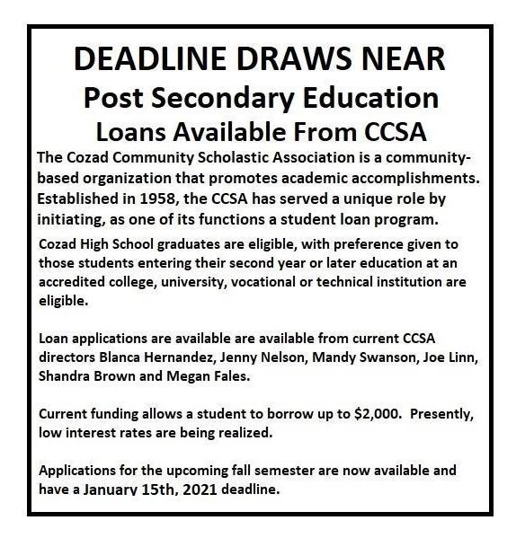CCSA Post Secondary Loan