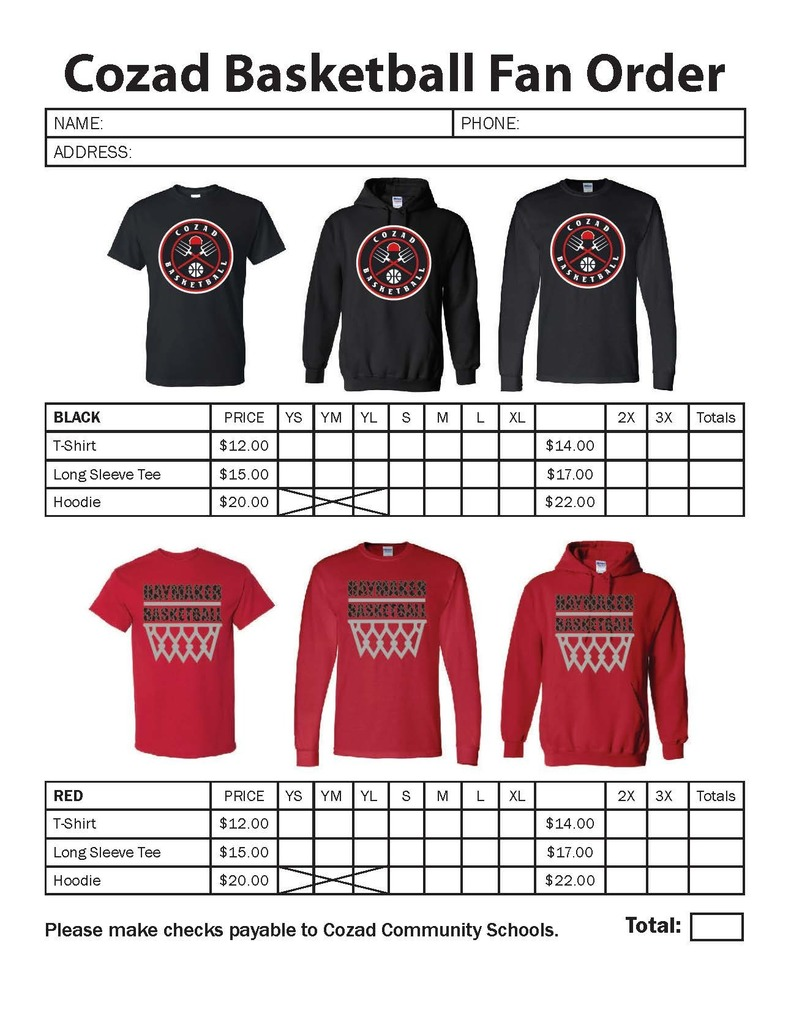 Cozad Basketball Fan Apparel