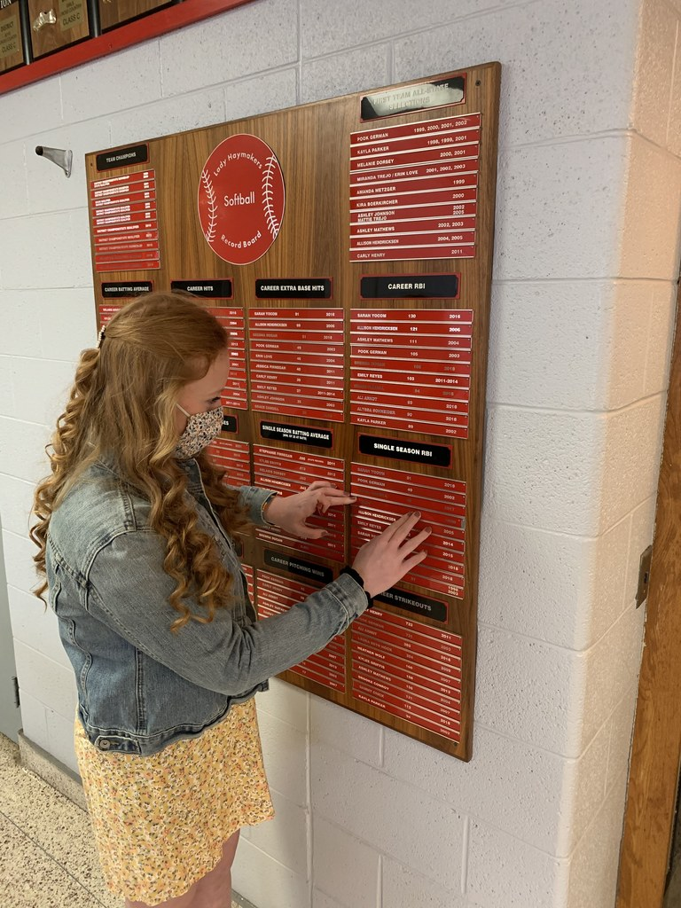 Softball Record Board