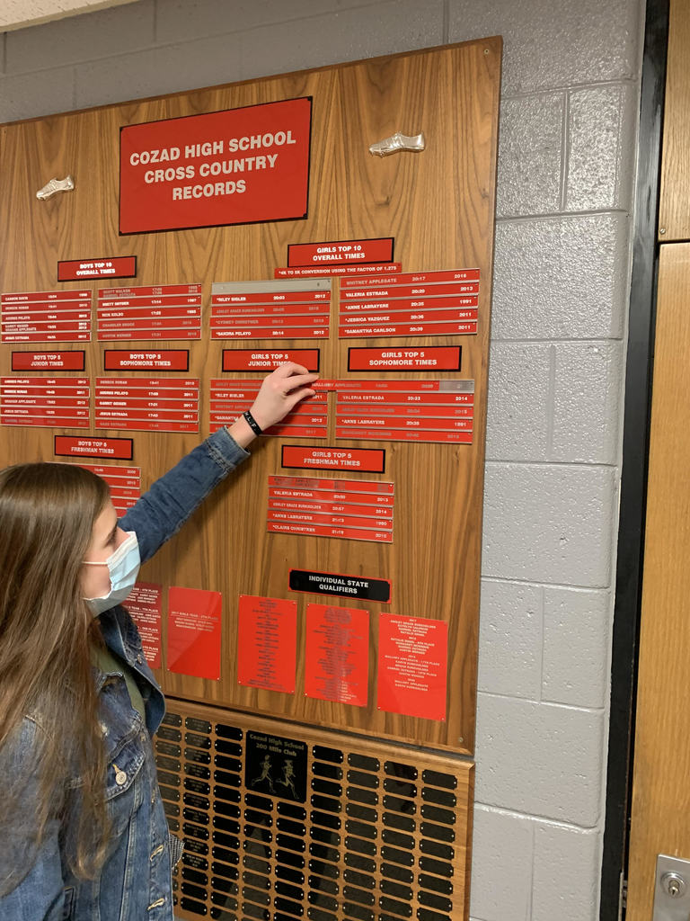 Cross Country Record Board