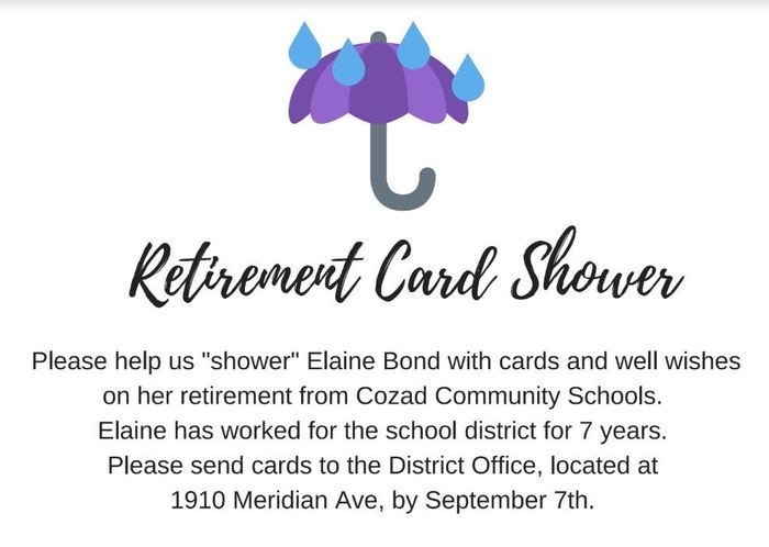 Elaine Bond Retirement