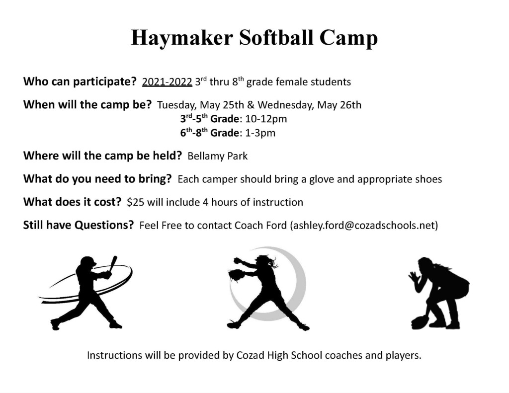 Haymaker Softball Camp 2021