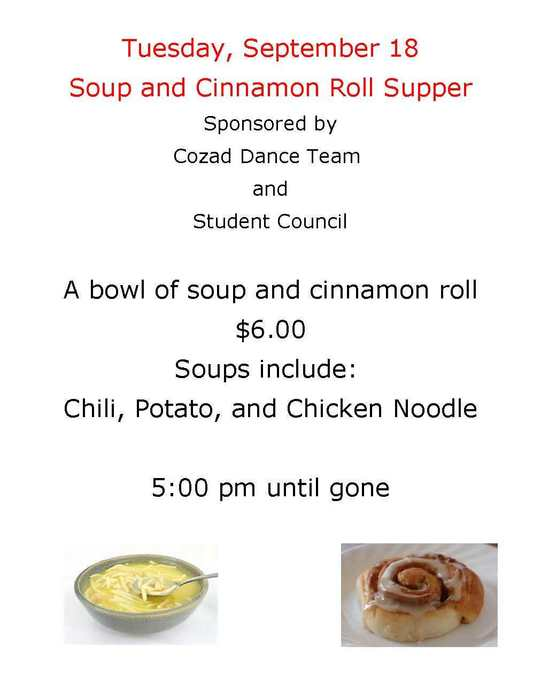 Soup & Cinnamon Roll