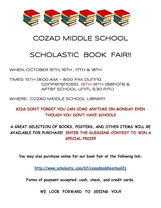 Middle School Book Fair