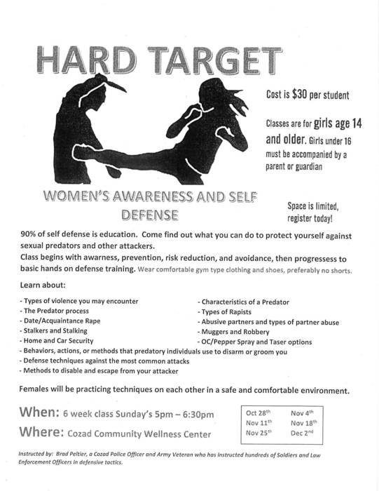 Hard Target Self Defense Training