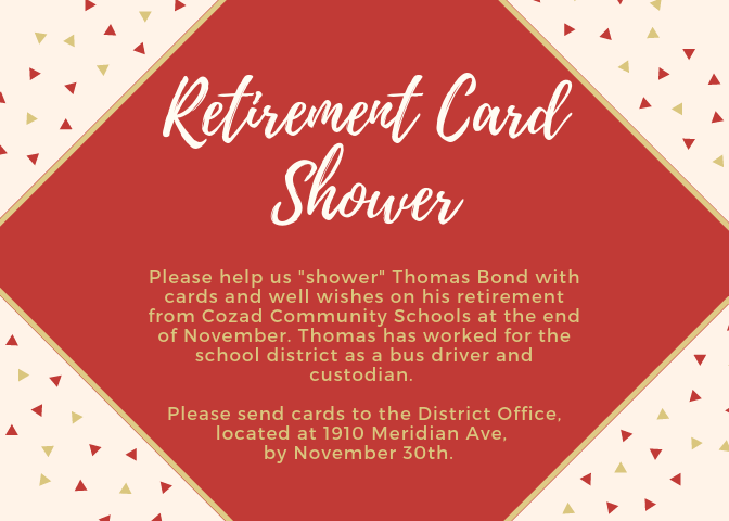Thomas Bond Retirement