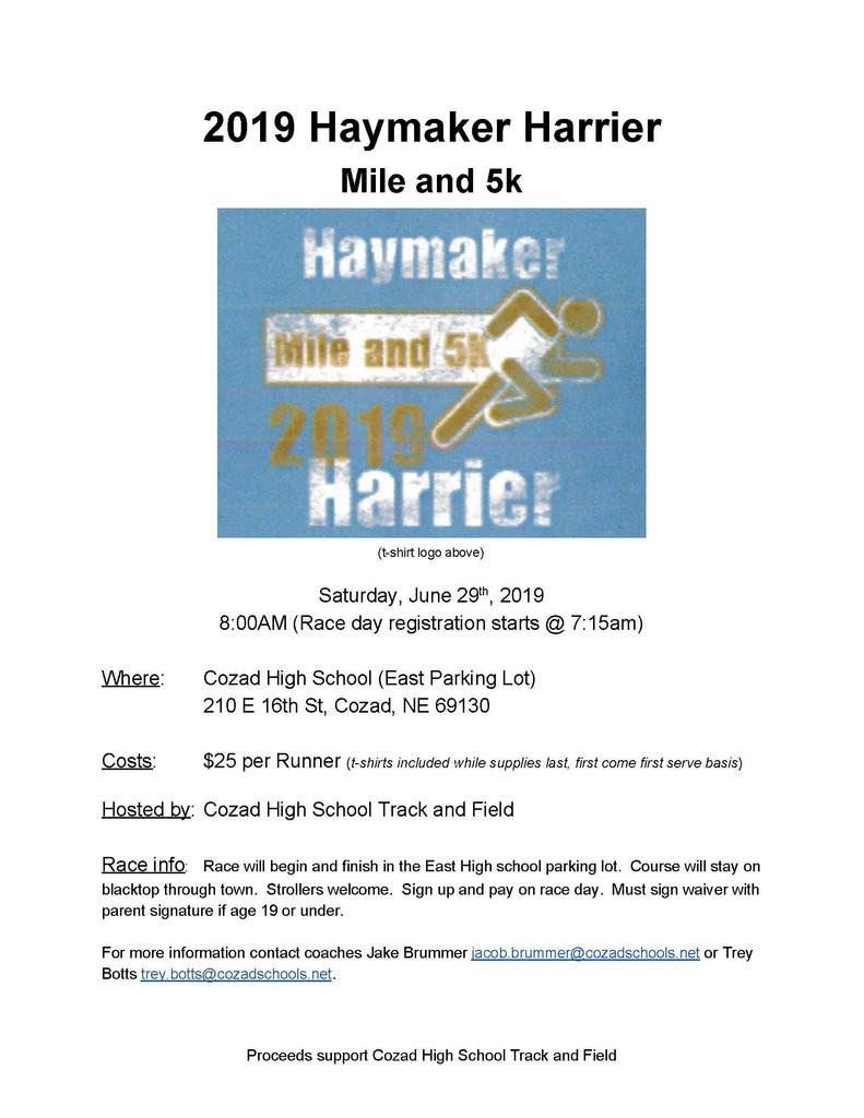Haymaker Harrier Run