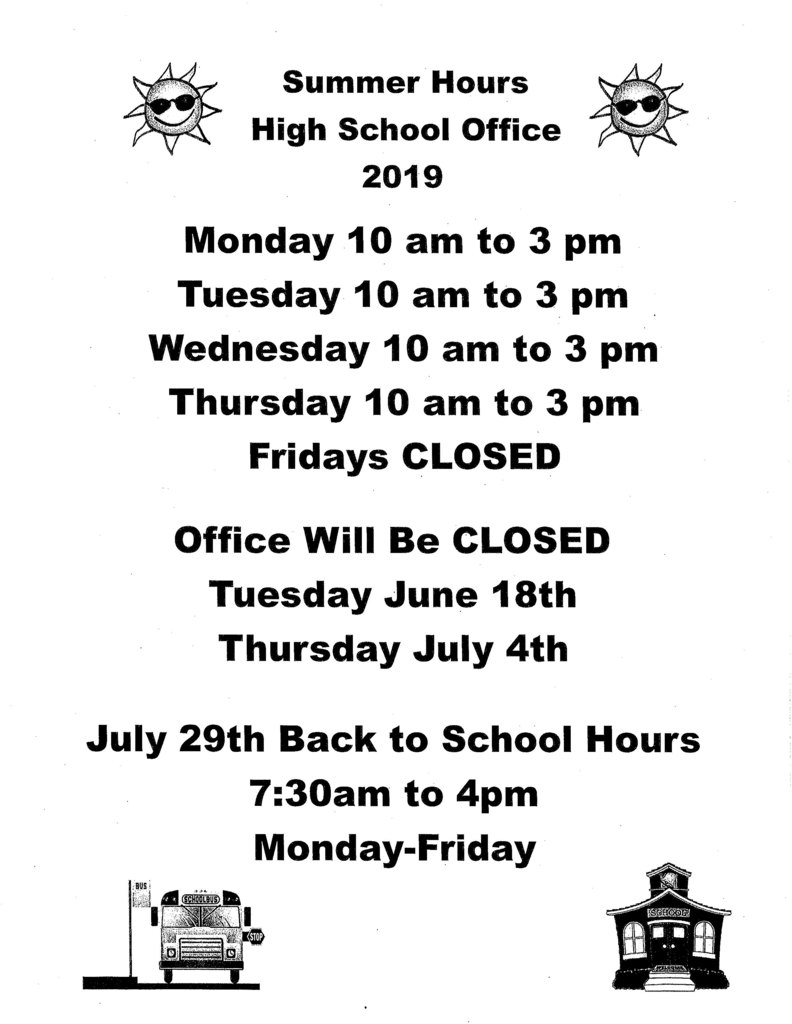 High School Summer Hours