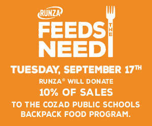 Runza supports Backpack Food Program