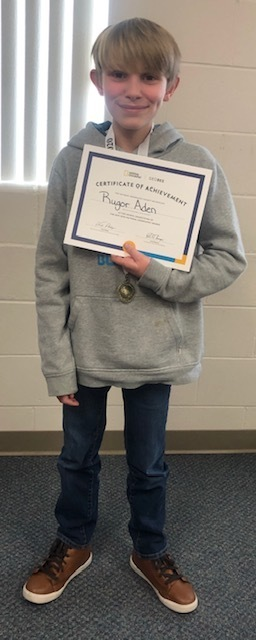 Cozad Middle School National Geographic Geography Bee CHAMPION