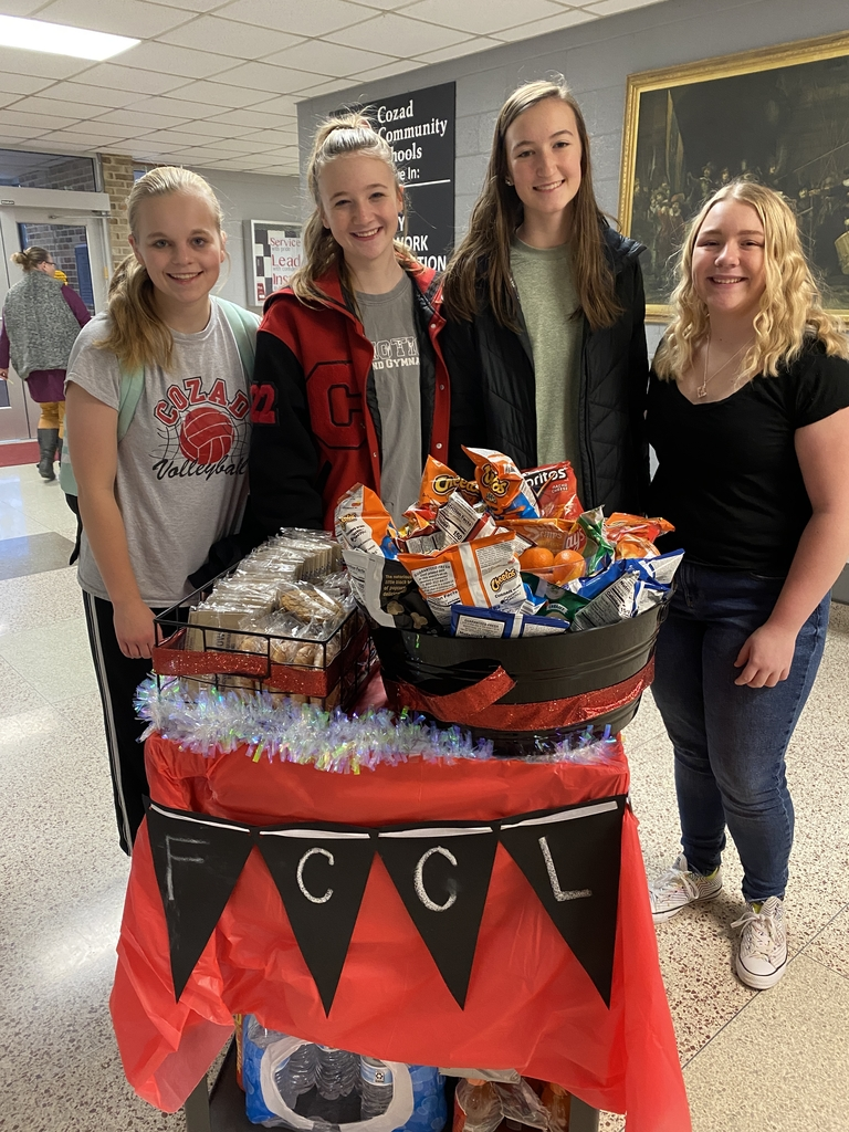 Cozad FCCLA delivering treats