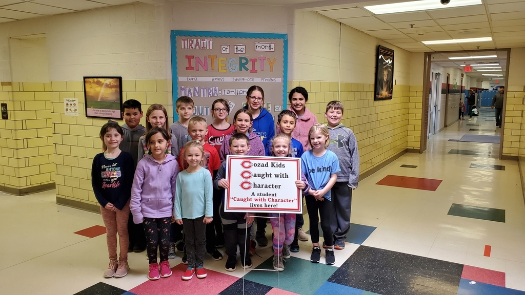 February Cozad Kids Caught With Character