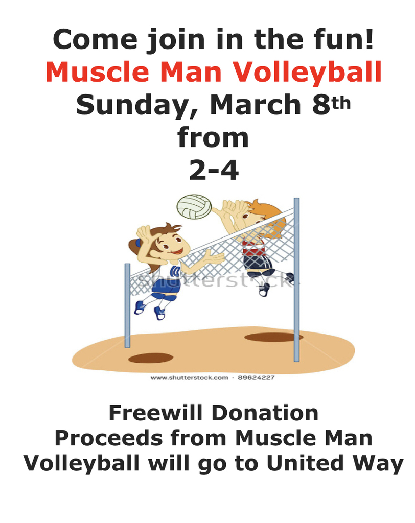 Muscle Man Volleyball