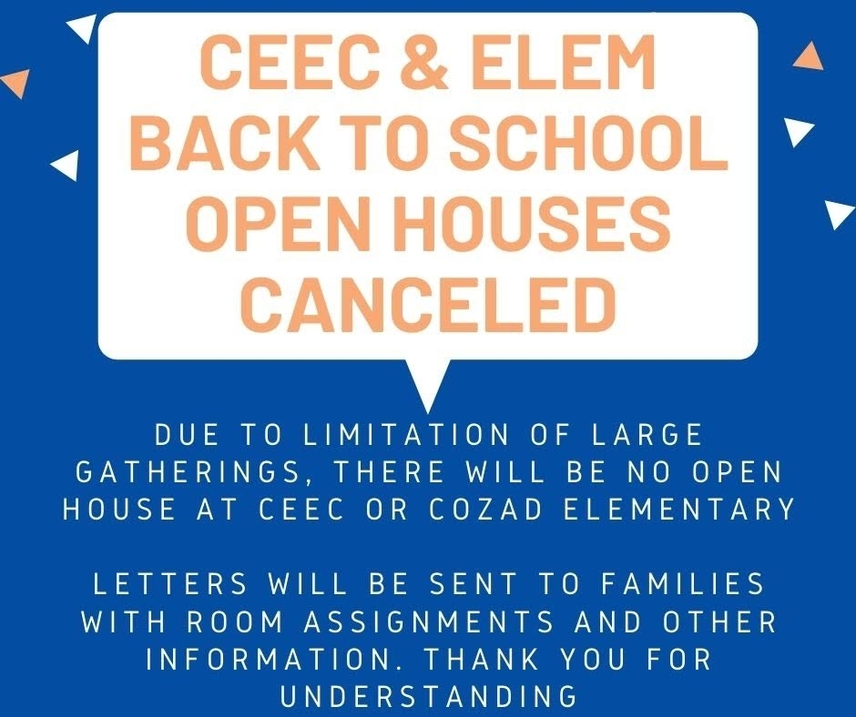 Open Houses Canceled