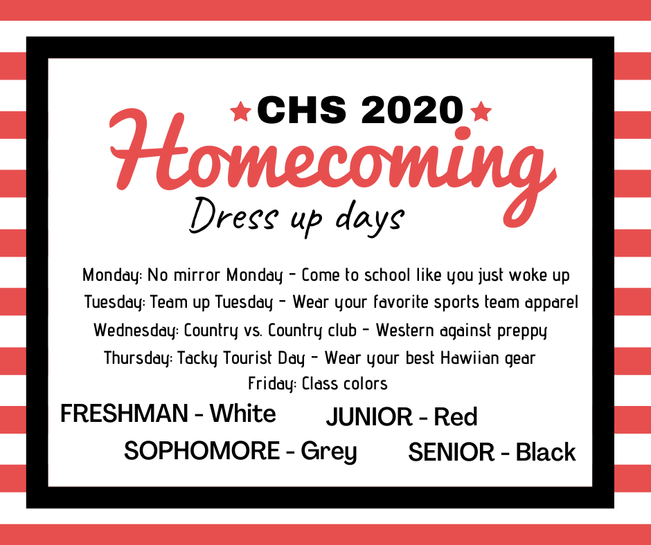 Homecoming Theme Days 2020